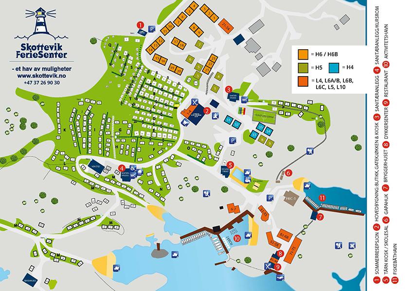 Area Map Skottevik No English